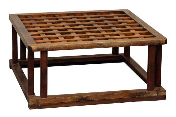 Square Wooden Coffee Table Base