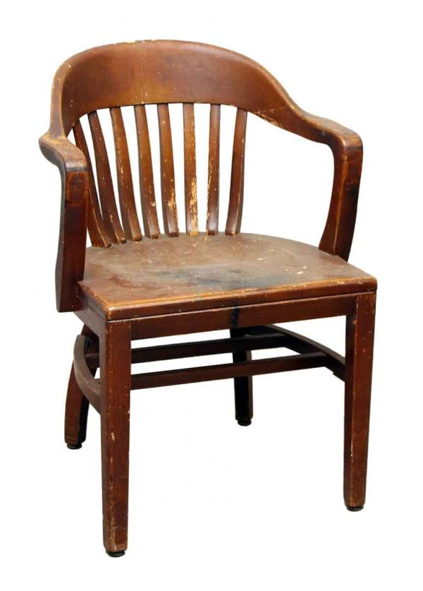 Wooden Shoemaker Bankers Chair