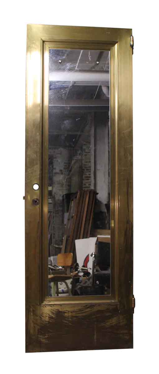 Solid Brass Door with Mirror Panel