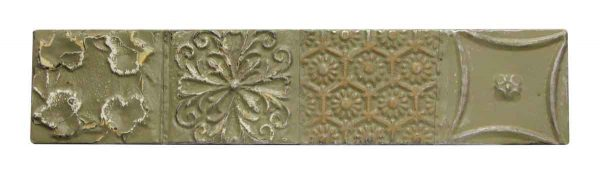 Gray Tin Panel with Mixed Pattern