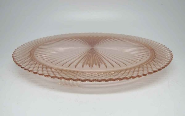 Pink Glass Round Serving Plate