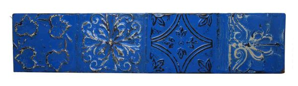 Royal Blue Shellac Long Tin Panel
