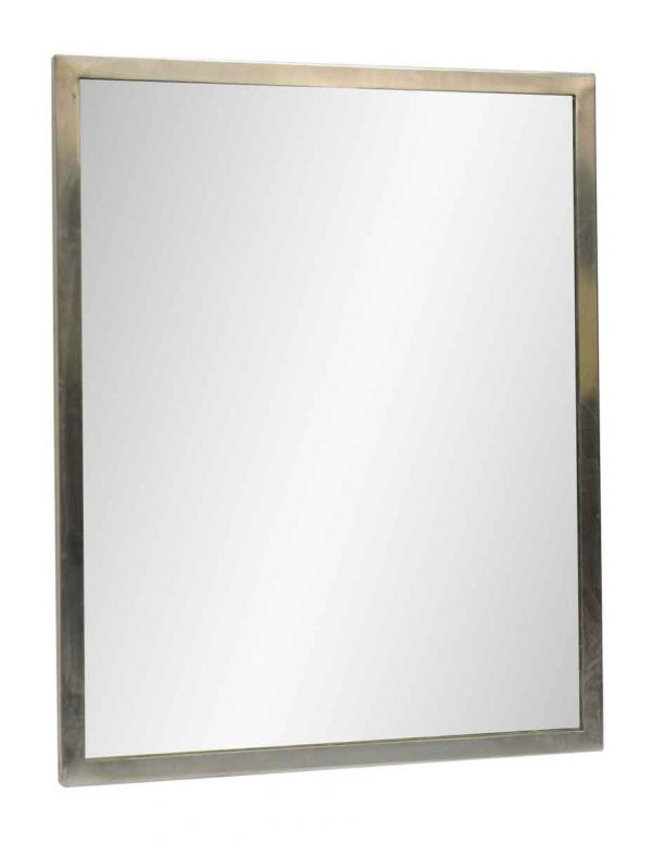 Mirror with Brush Steel Frame