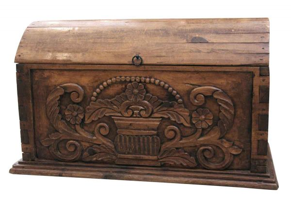 Curved Top Highly Carved Trunk