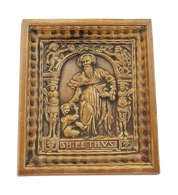 Religious Ceramic Saint Peter Tile