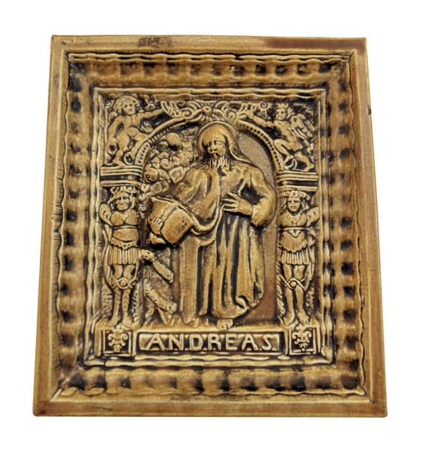 Religious Ceramic Tile Showing Andreas