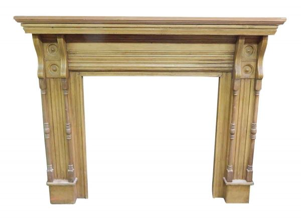 Simple Pine Mantel with Bulls Eye Detail
