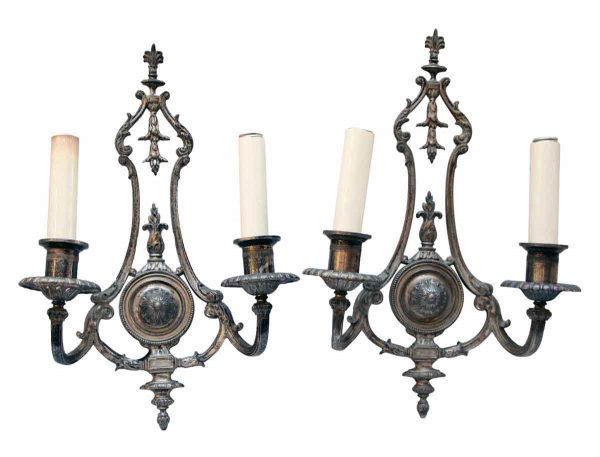 Pair of 1910s Silver Sconces