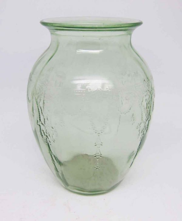 Vintage Light Green Decorative Glass Vase