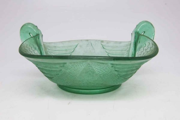 Vintage Green Flared Glass Dish