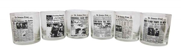 Glass Cups of the Scranton Times Newspaper