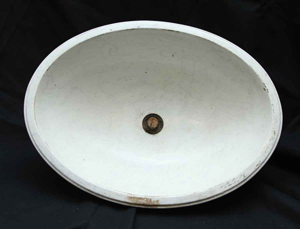 Oval Salvaged Iron Basin Sink