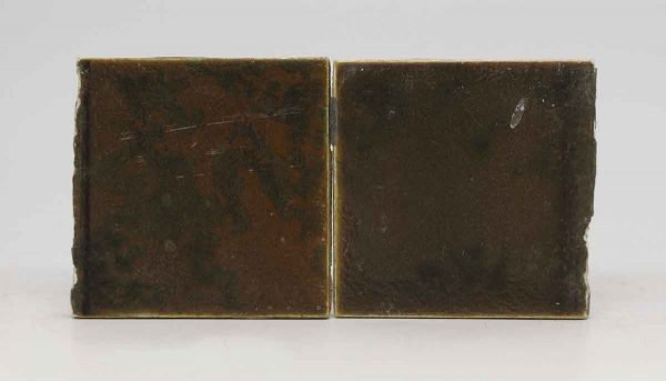 Set of Two Brown Mixed Tiles