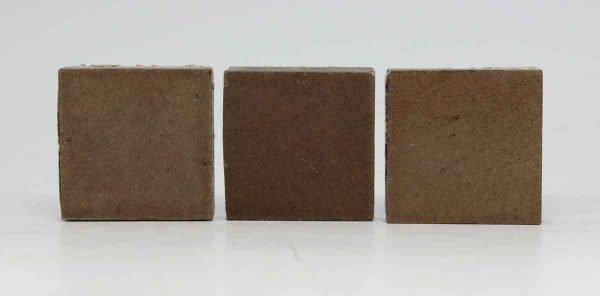 Trio of Small Brown Square Tiles