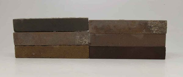 Set of Six Long Tan & Brown Tiles