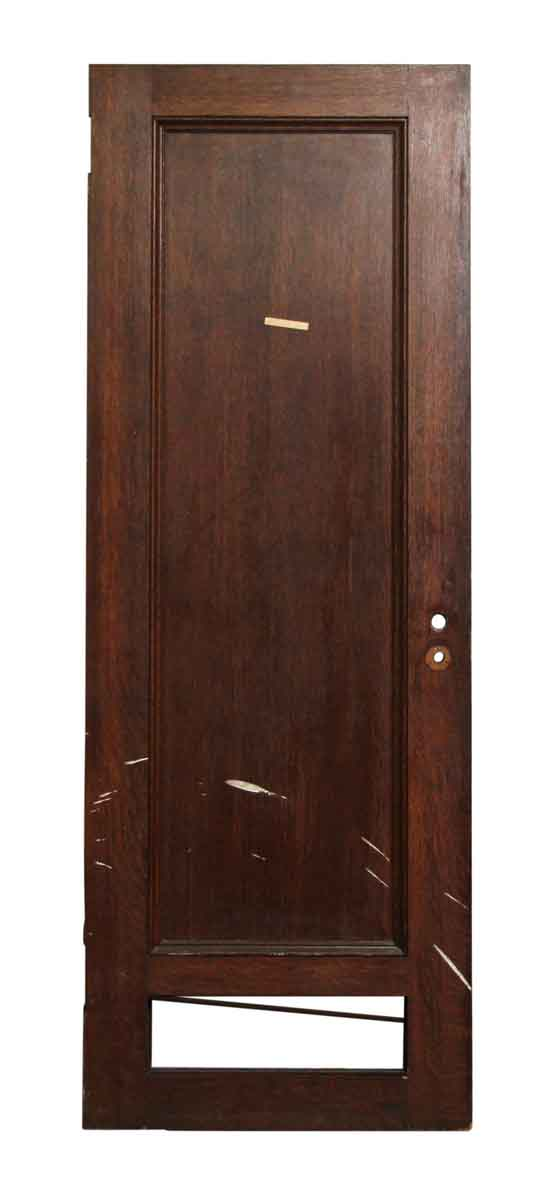 Single Panel Wood Door with Bottom Cut Out
