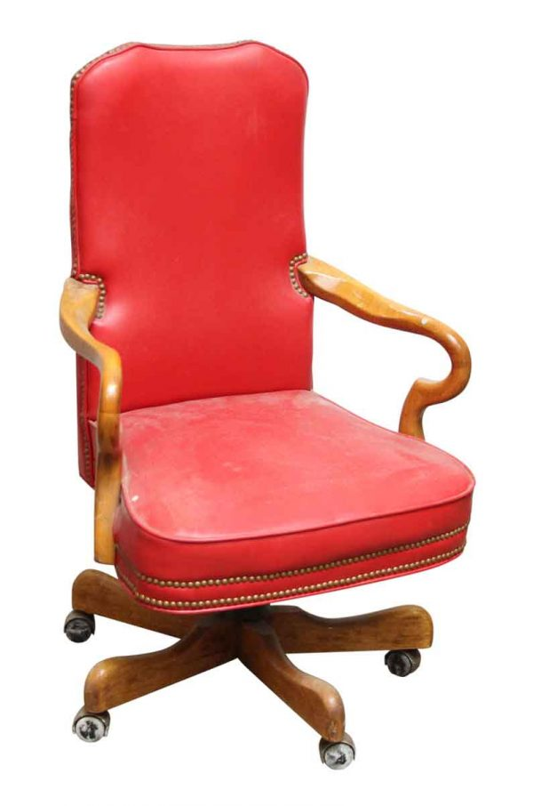 Fairfield Red Rolling Chair