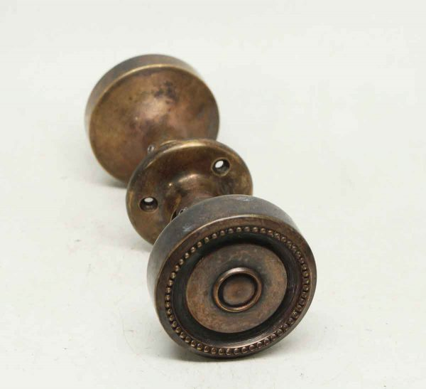 Bronze Beaded Knob Set
