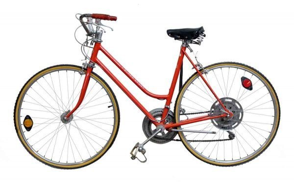 Vintage Red Schwinn Super Sport Bike