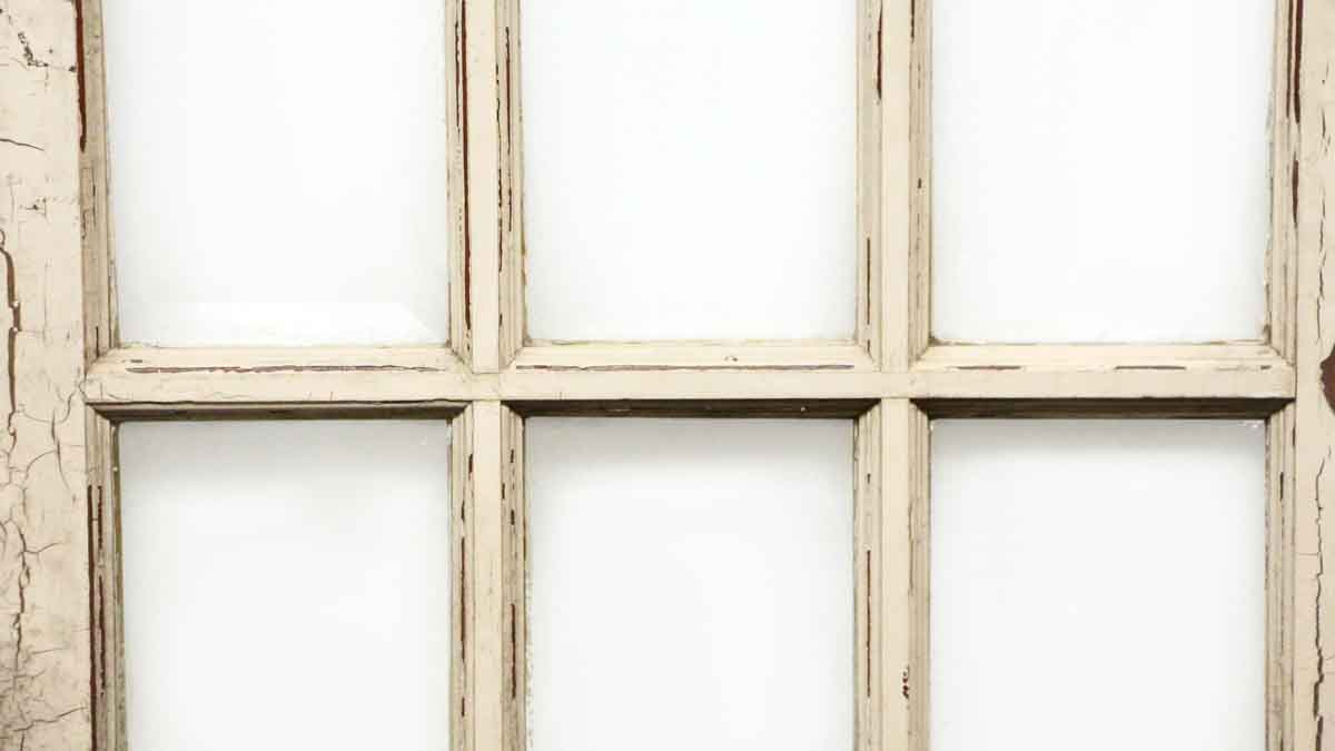 Beveled 15 glass panel wooden door olde good things for 15 panel glass exterior door