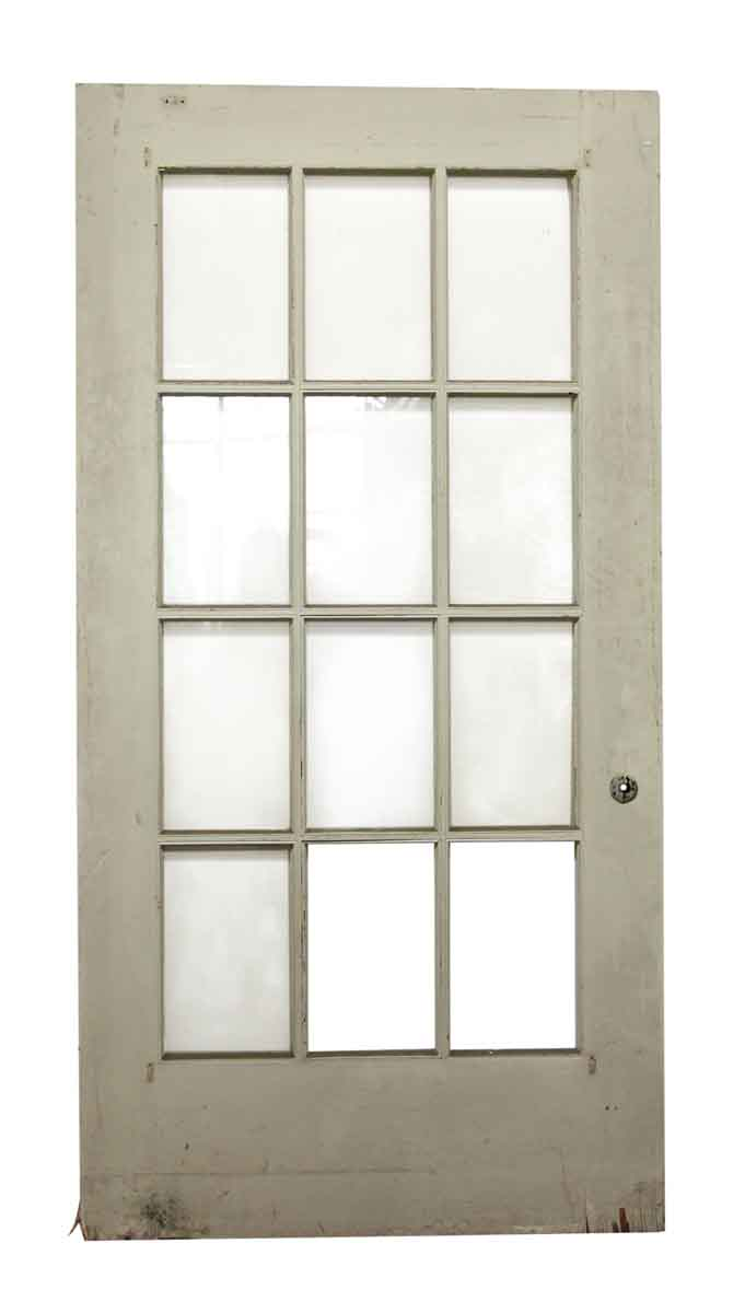12 glass panel wide white door olde good things