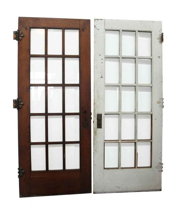 15 Beveled Glass Panel French Door