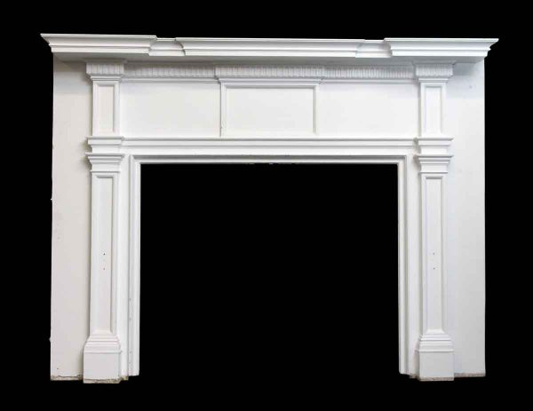 Federal Style White Wood Mantel