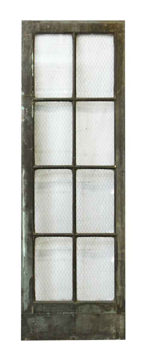 Metal Door with Eight Chicken Wire Glass Panels