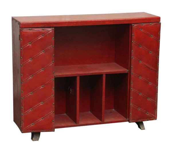 Red Leather & Wood Bar