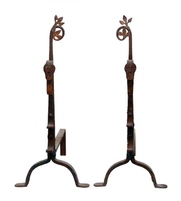Figural Cast Iron Andirons