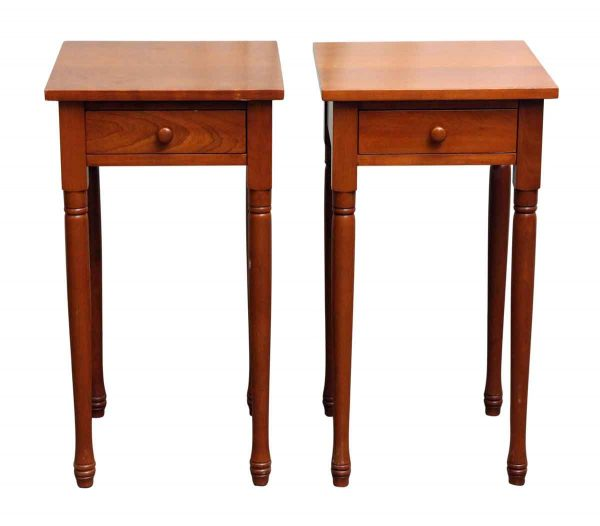 Pair of Single Drawer Night Stands