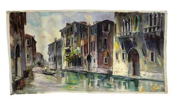 Venice Canal Canvas Oil Painting