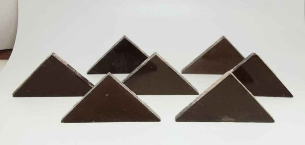 Set of Seven Brown Triangular Tiles