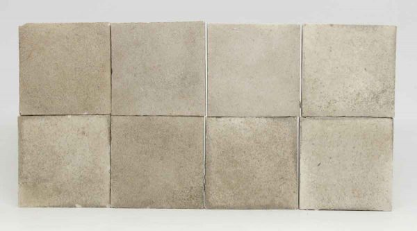 Set of Eight Square Gray Tiles