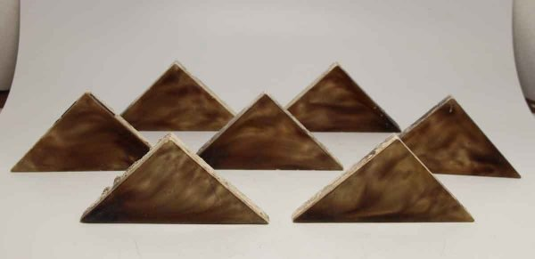 Set of 5 Brown Triangular Tiles