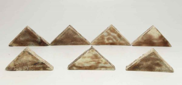 Set of 14 Small Multi Color Triangle Tiles
