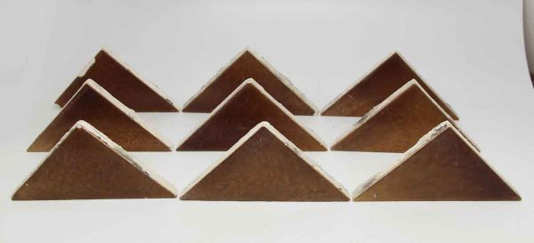 Set of 12 Brown Triangle Tiles
