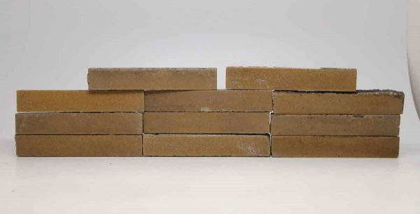 Set of 11 Rectangular Tan Tiles