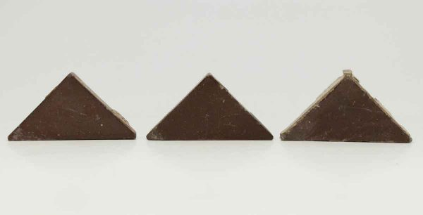 Set of Three Small Dark Brown Triangle Tiles