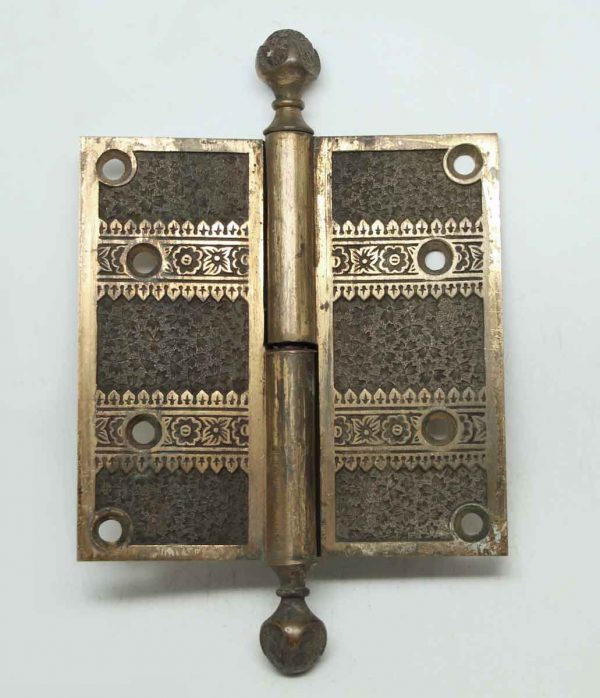 Bronze Single Floral Hinge