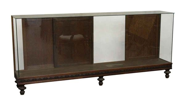 Large Showcase with Carved Decorative Wood Details