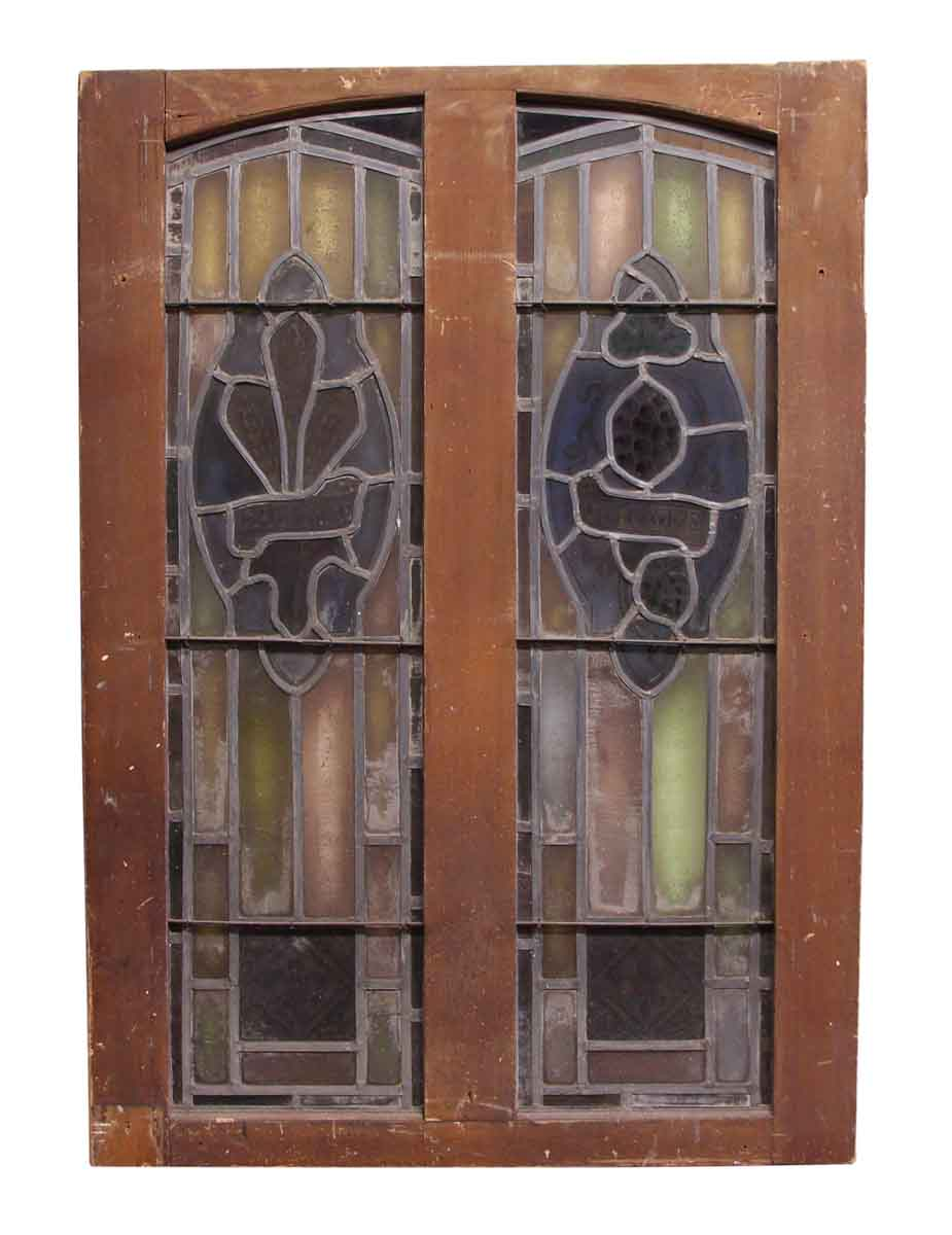 Double pane stained glass window olde good things for Dual pane windows