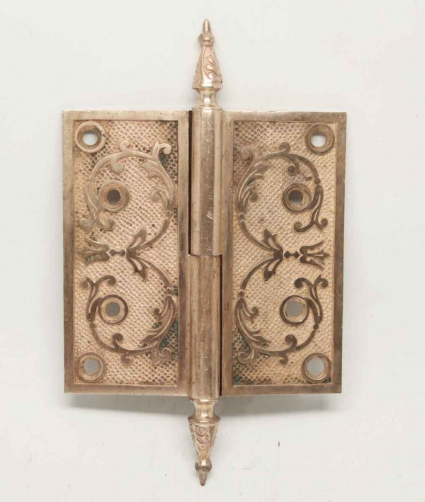 Hopkins & Dickinson Ornate Bronze Hinges from the Late 1800s