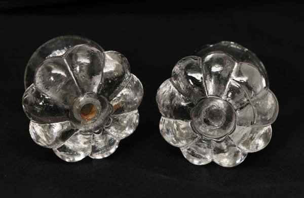 Pair of Early Period Floral Glass Pulls