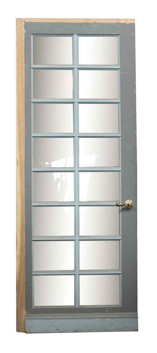 Wood Door with 16 Glass Panels