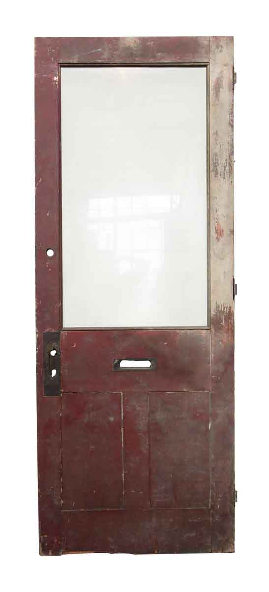 Single Wood Door with Single Glass Panel