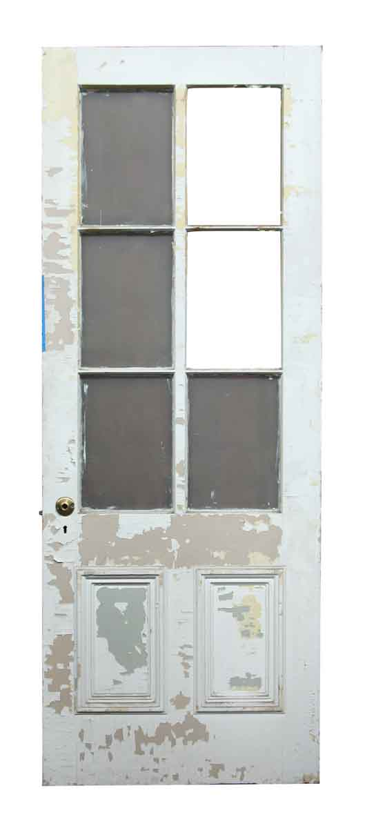 Six Glass Panel Wooden Door