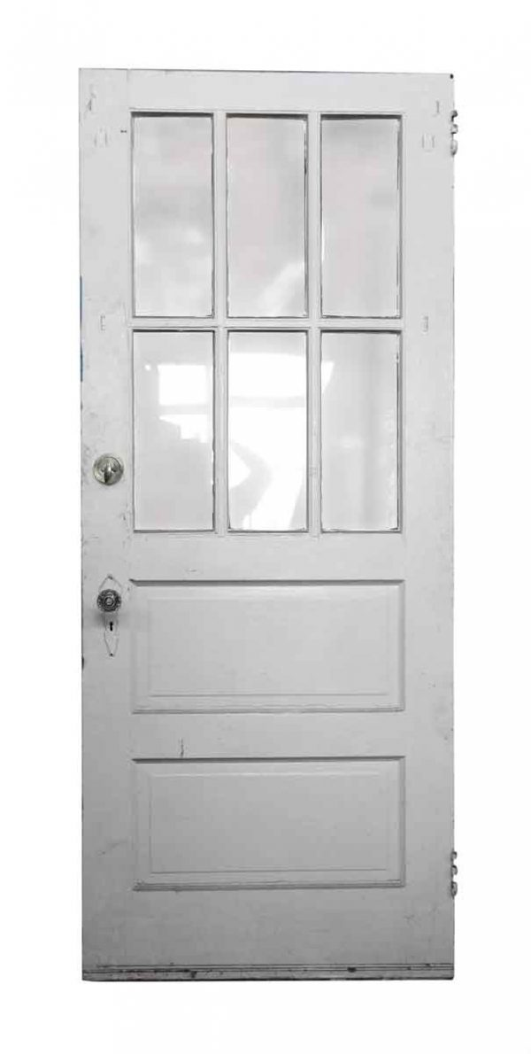 Single Six Glass Panel Wood Door