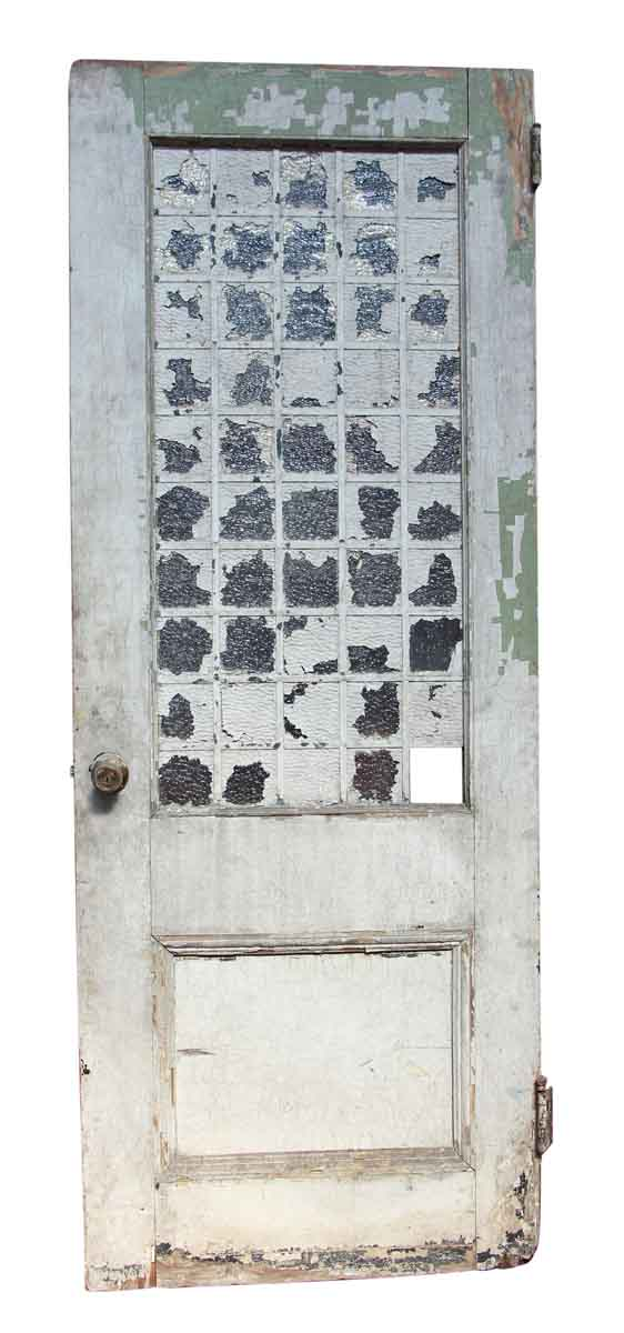 Single Door with 50 Small Glass Panels
