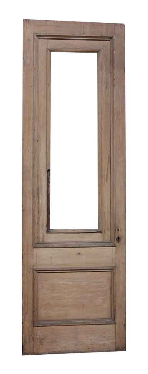 Single Wood Door with Two Panels